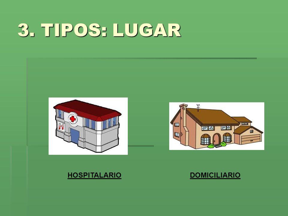 3. TIPOS: LUGAR HOSPITALARIO DOMICILIARIO