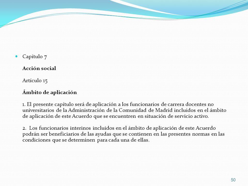 Capítulo 7 Acción social Artículo 15 Ámbito de aplicación 1
