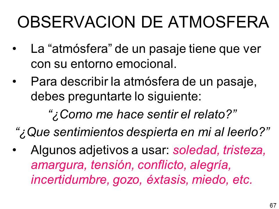 OBSERVACION DE ATMOSFERA