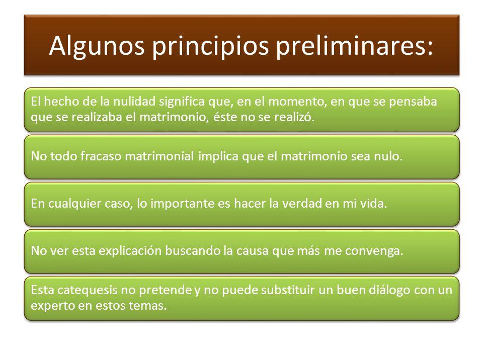 Algunos principios preliminares: