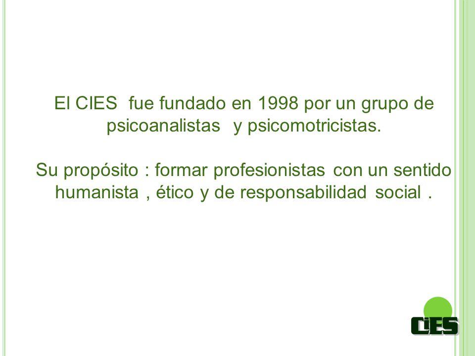 El CIES fue fundado en 1998 por un grupo de psicoanalistas y psicomotricistas.