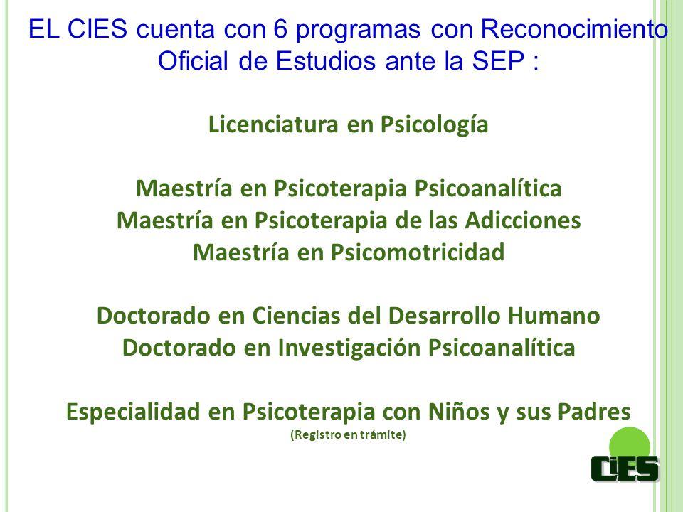 Licenciatura en Psicología Maestría en Psicoterapia Psicoanalítica