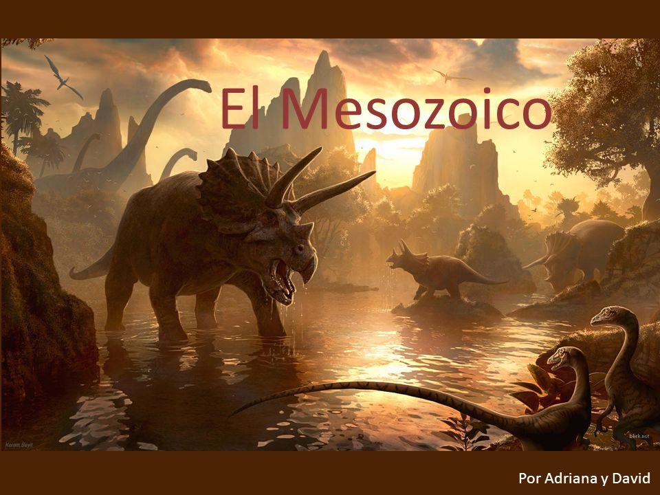 El Mesozoico El Mesozoico Por Adriana y David Por Adriana y David