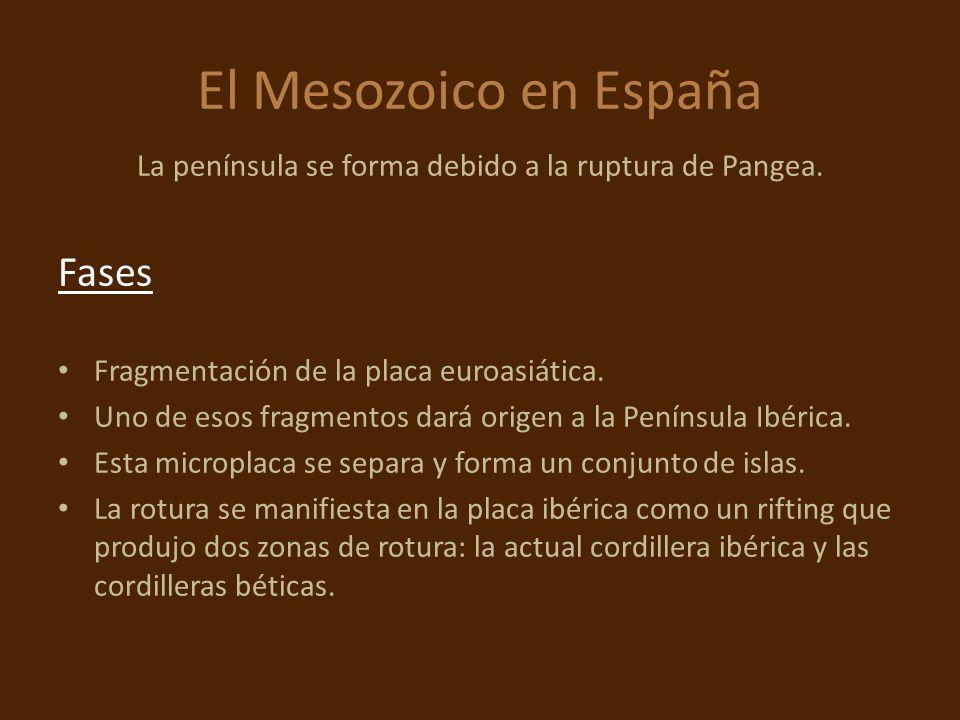 La península se forma debido a la ruptura de Pangea.