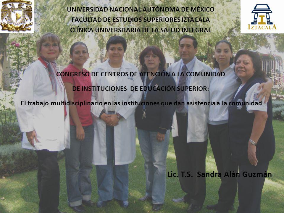 Lic. T.S. Sandra Alán Guzmán