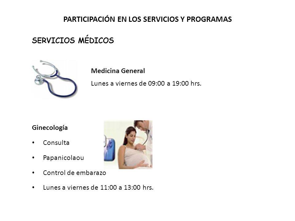 PARTICIPACIÓN EN LOS SERVICIOS Y PROGRAMAS