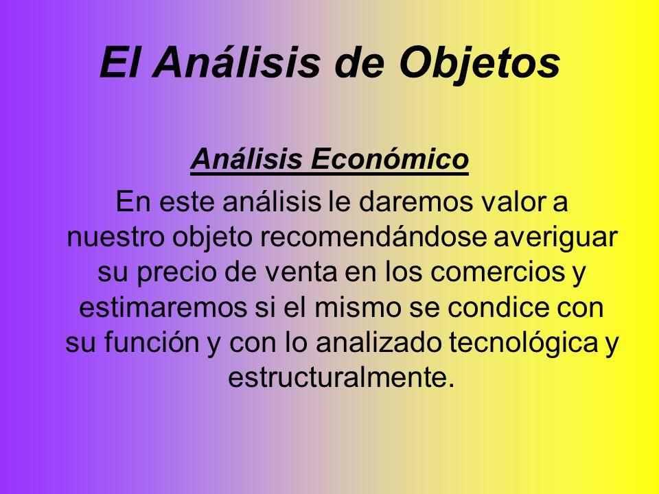 El Análisis de Objetos Análisis Económico