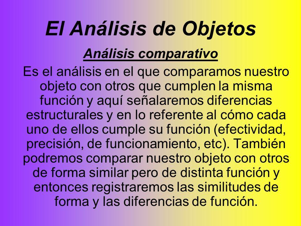 El Análisis de Objetos Análisis comparativo
