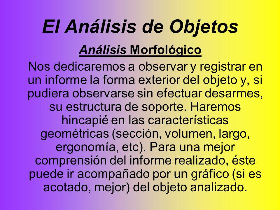 El Análisis de Objetos Análisis Morfológico