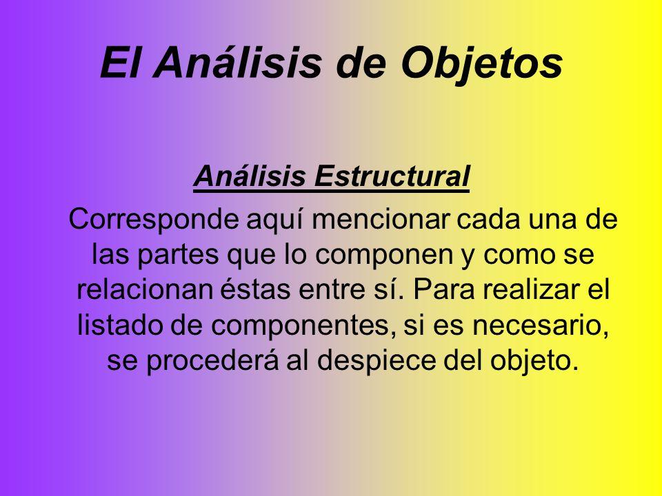 El Análisis de Objetos Análisis Estructural