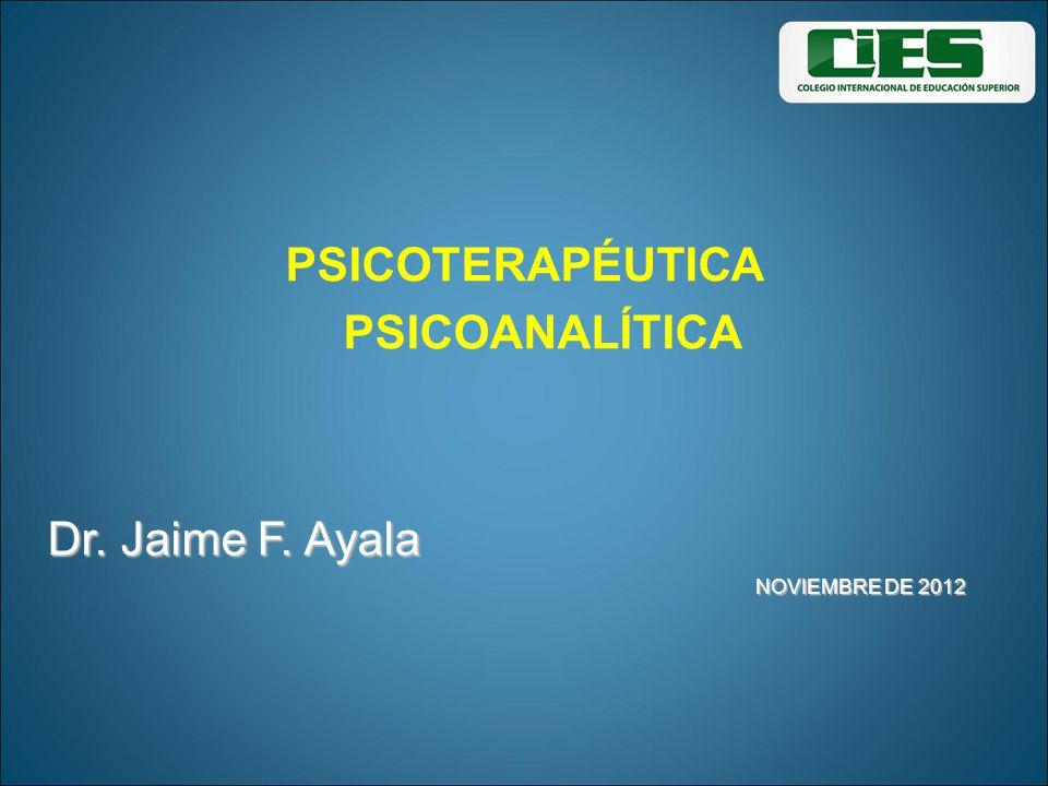 PSICOTERAPÉUTICA PSICOANALÍTICA