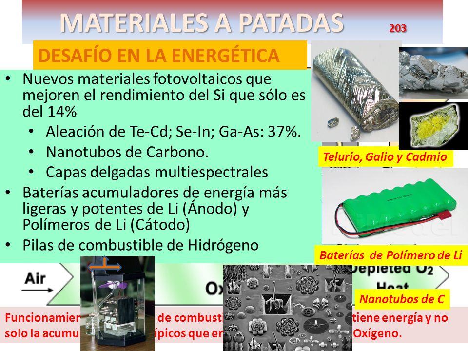 MATERIALES A PATADAS 203 DESAFÍO EN LA ENERGÉTICA