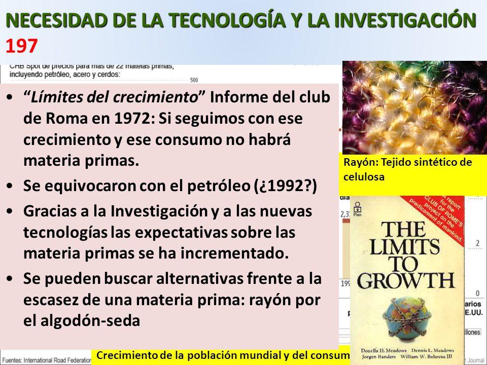 NECESIDAD DE LA TECNOLOGÍA Y LA INVESTIGACIÓN 197