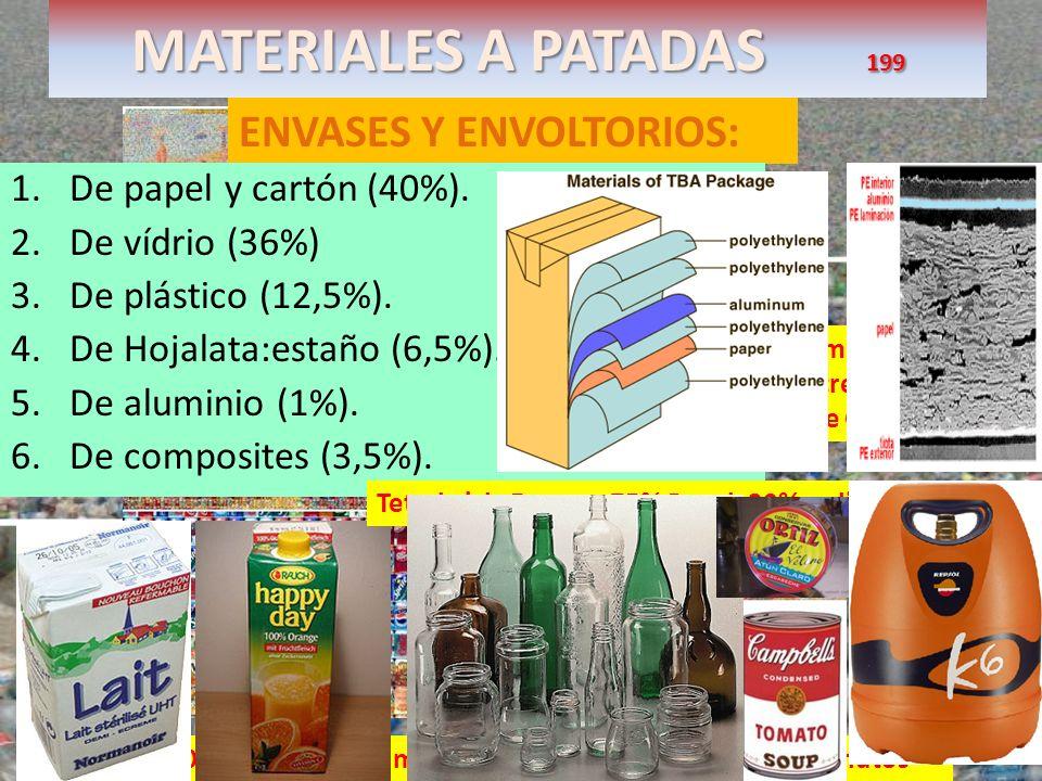 MATERIALES A PATADAS 199 ENVASES Y ENVOLTORIOS: