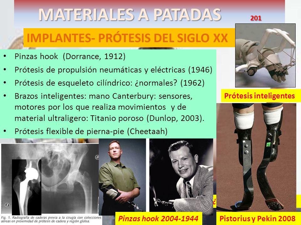 MATERIALES A PATADAS 201 IMPLANTES- PRÓTESIS DEL SIGLO XX