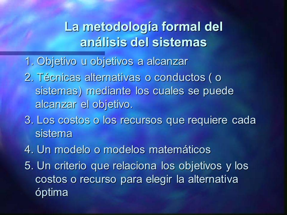 La metodología formal del análisis del sistemas