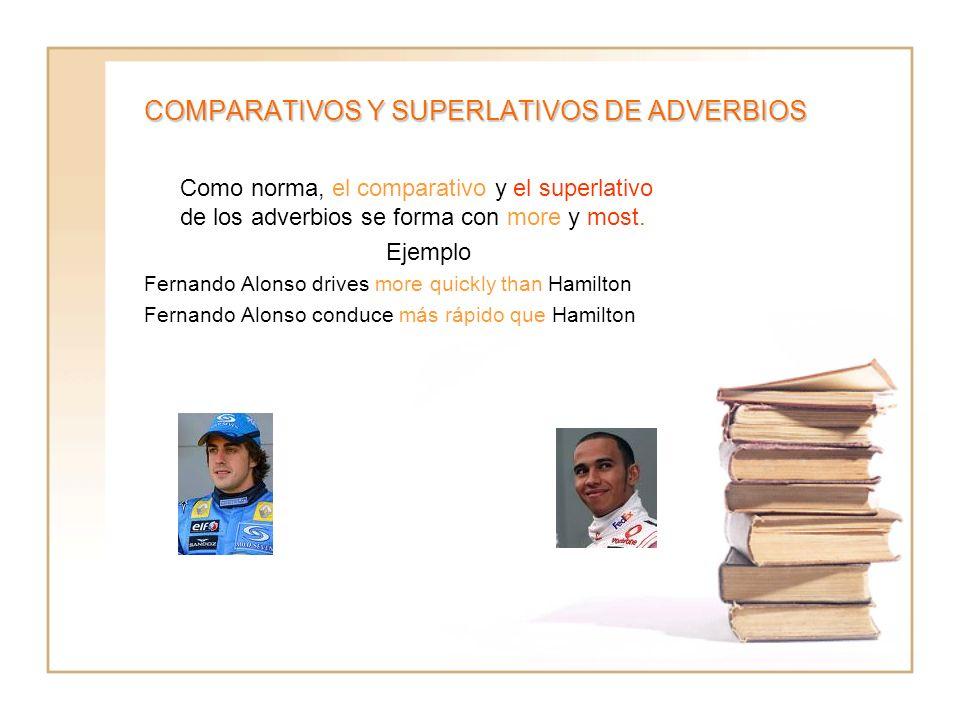 COMPARATIVOS Y SUPERLATIVOS DE ADVERBIOS