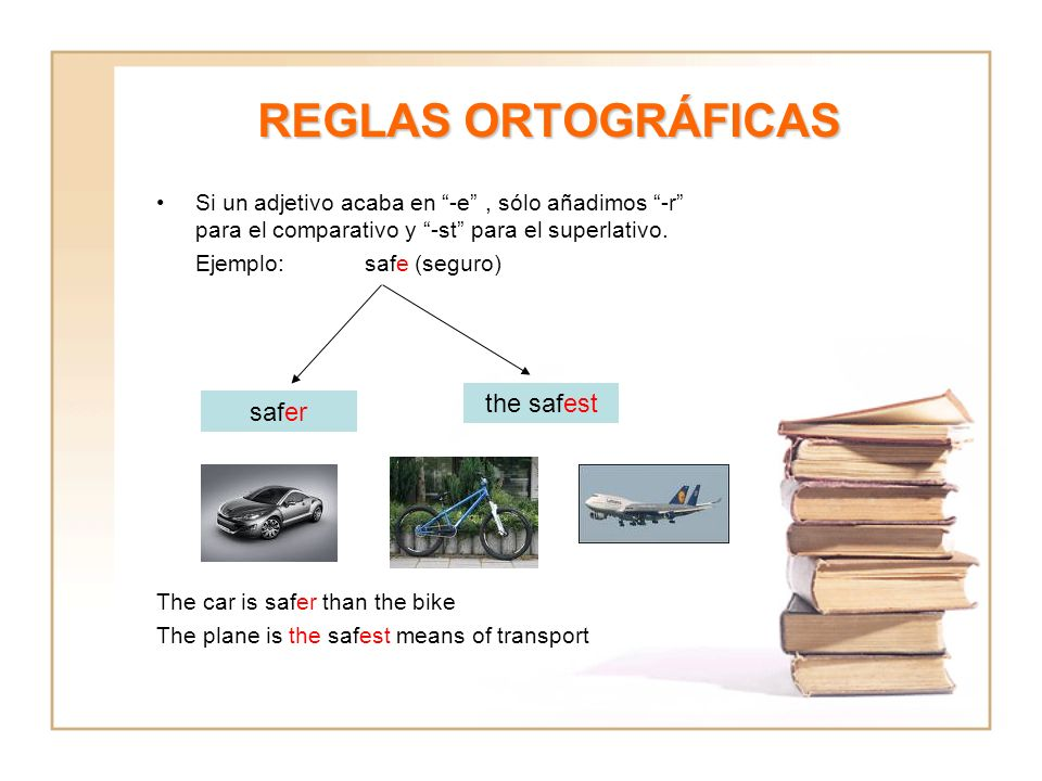 REGLAS ORTOGRÁFICAS the safest safer