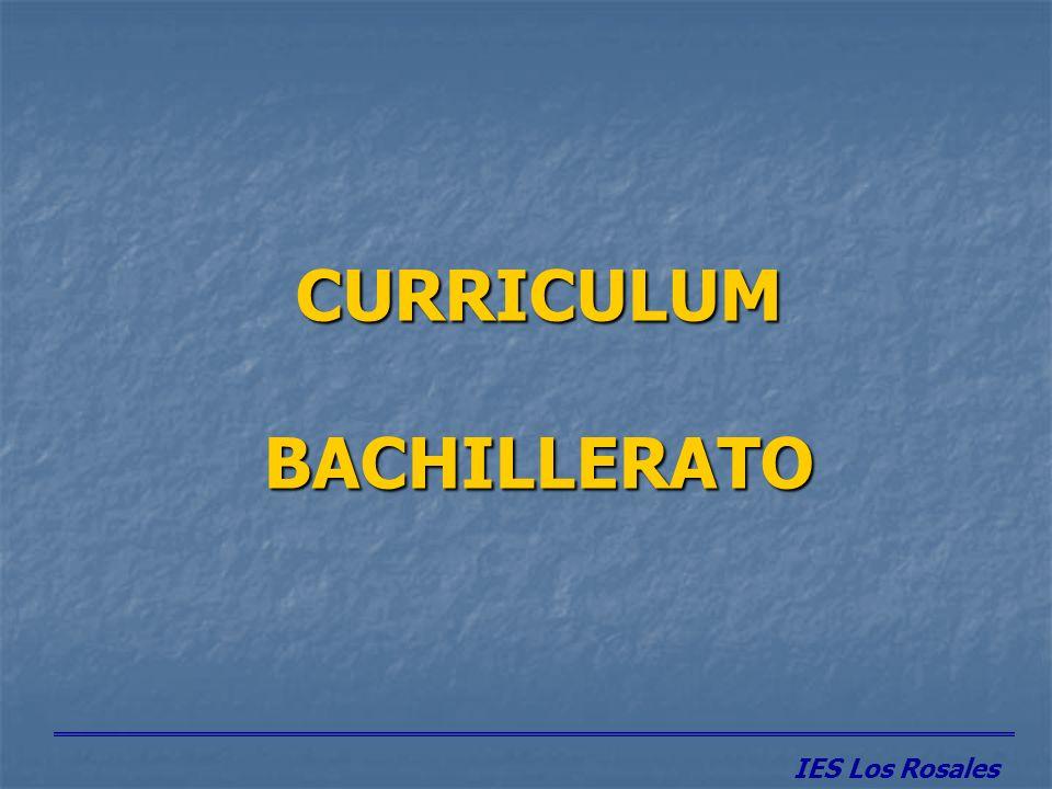 CURRICULUM BACHILLERATO