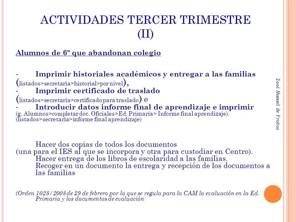 ACTIVIDADES TERCER TRIMESTRE (II)