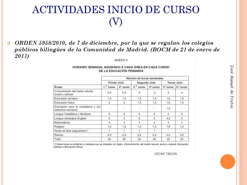 ACTIVIDADES INICIO DE CURSO (V)