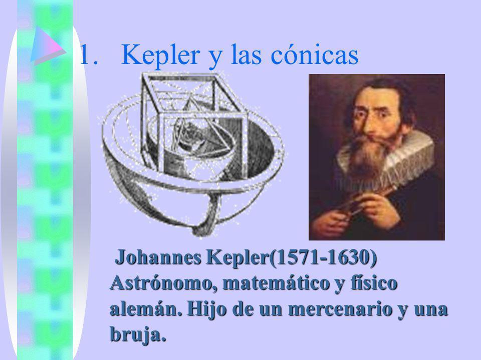 Kepler y las cónicas Pero lo que distingue a estas curvas sobre otras muchas es su aplicación a la astronomia.