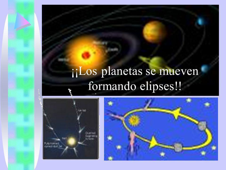 ¡¡Los planetas se mueven formando elipses!!