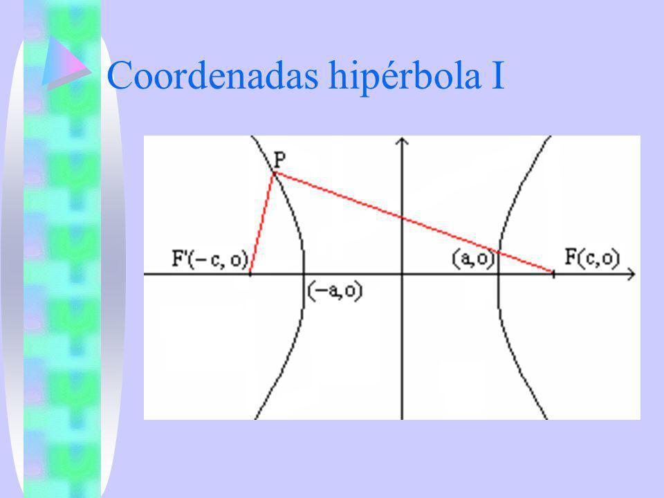 Coordenadas hipérbola I