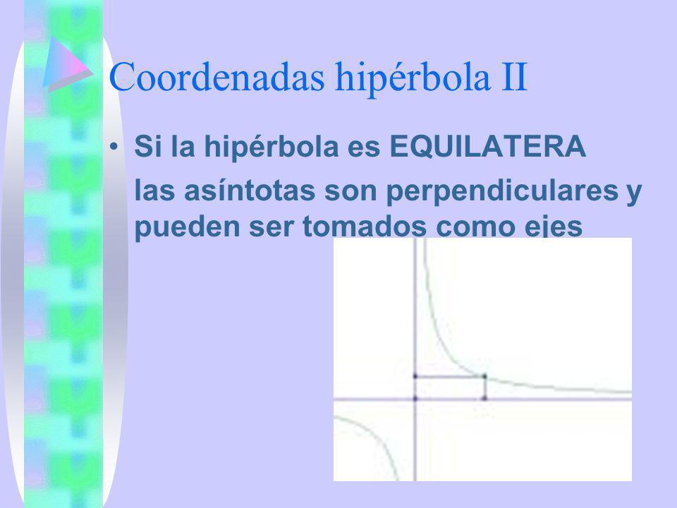 Coordenadas hipérbola II