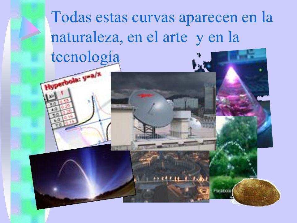 Todas estas curvas aparecen en la naturaleza, en el arte y en la tecnología