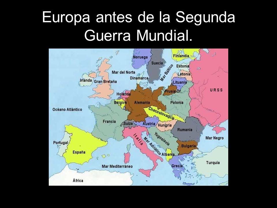 Europa antes de la Segunda Guerra Mundial.