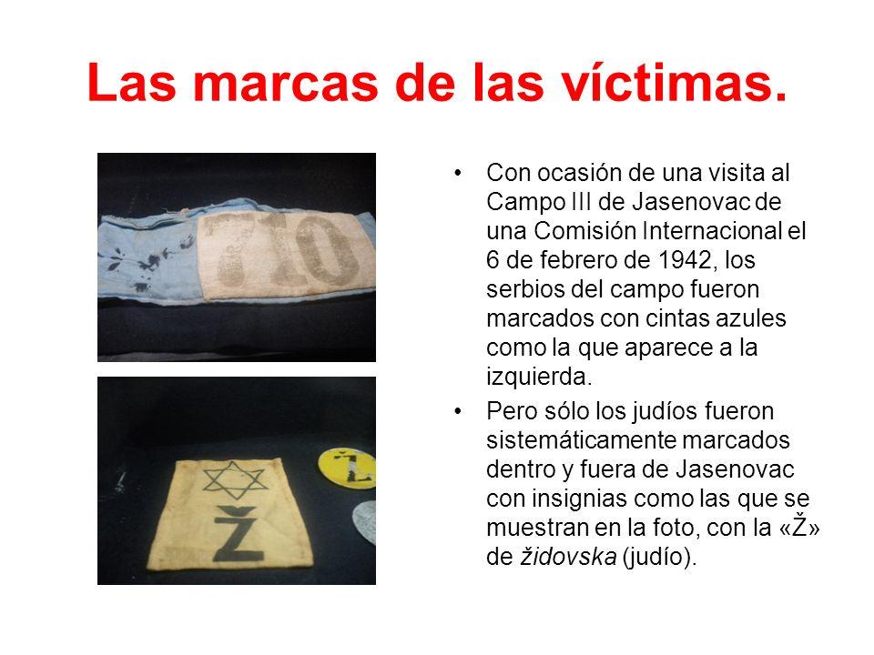 Las marcas de las víctimas.
