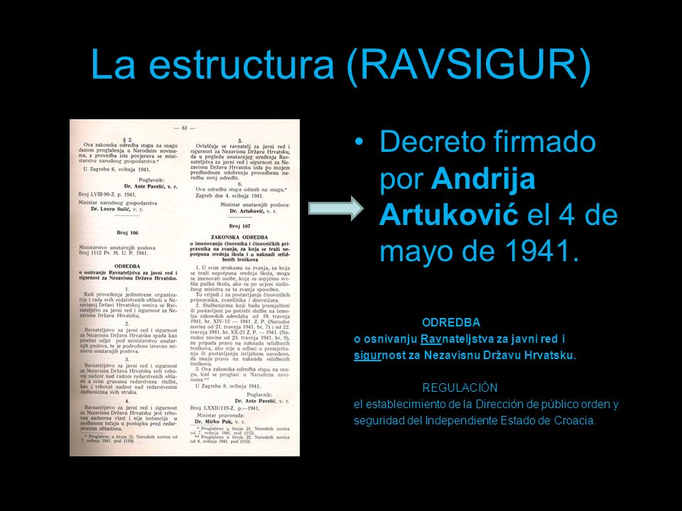 La estructura (RAVSIGUR)