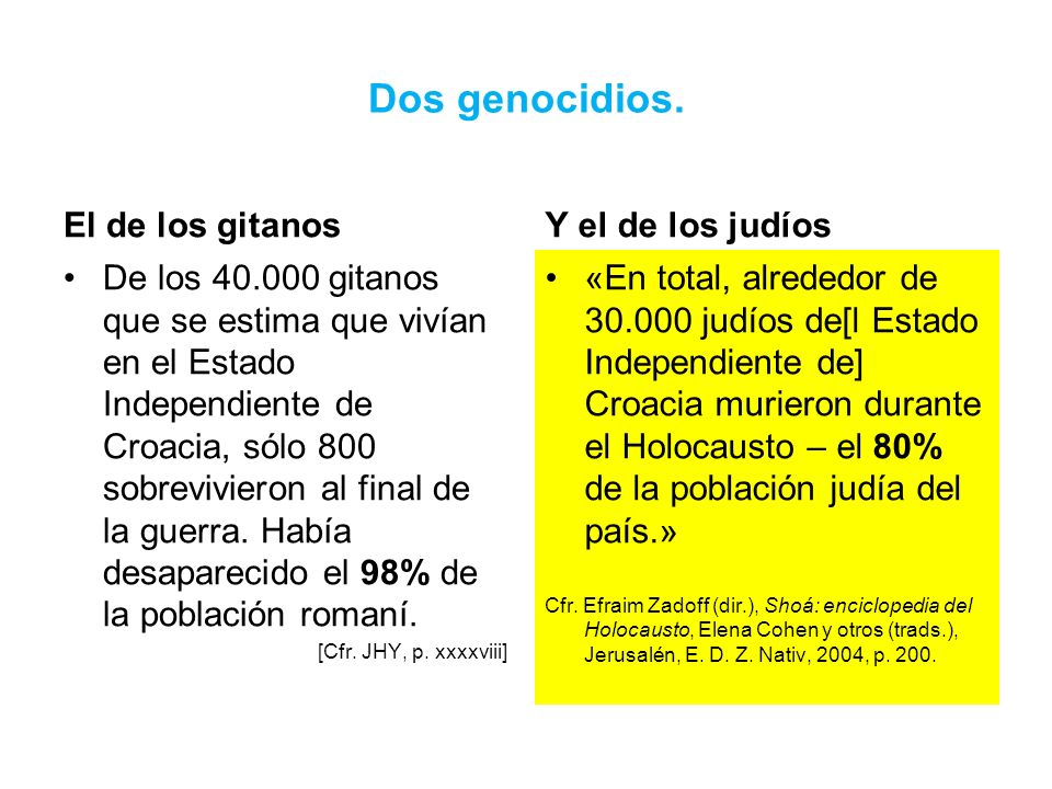 Dos genocidios. El de los gitanos Y el de los judíos