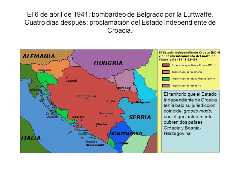 El 6 de abril de 1941: bombardeo de Belgrado por la Luftwaffe