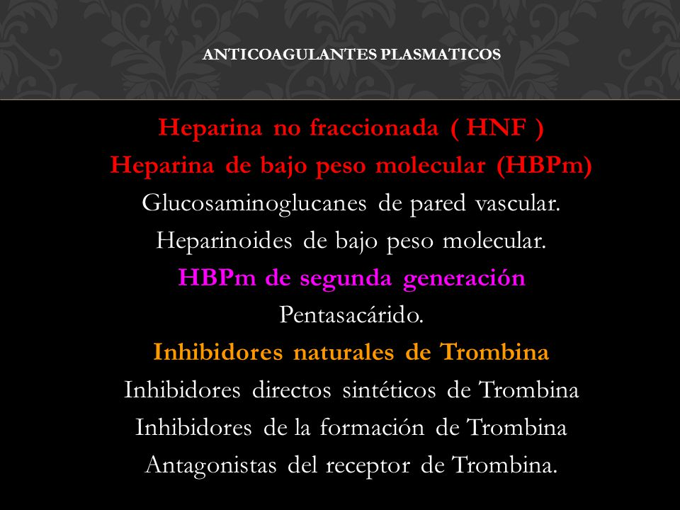 ANTICOAGULANTES PLASMATICOS