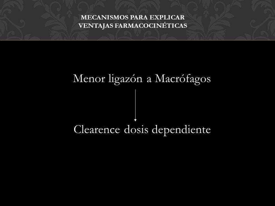Mecanismos para explicar ventajas Farmacocinéticas