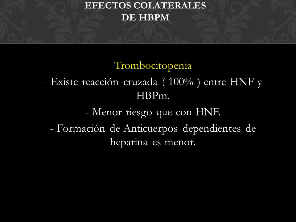 Efectos colaterales de HBPm