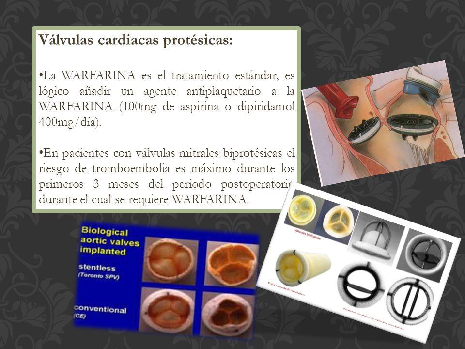 Válvulas cardiacas protésicas: