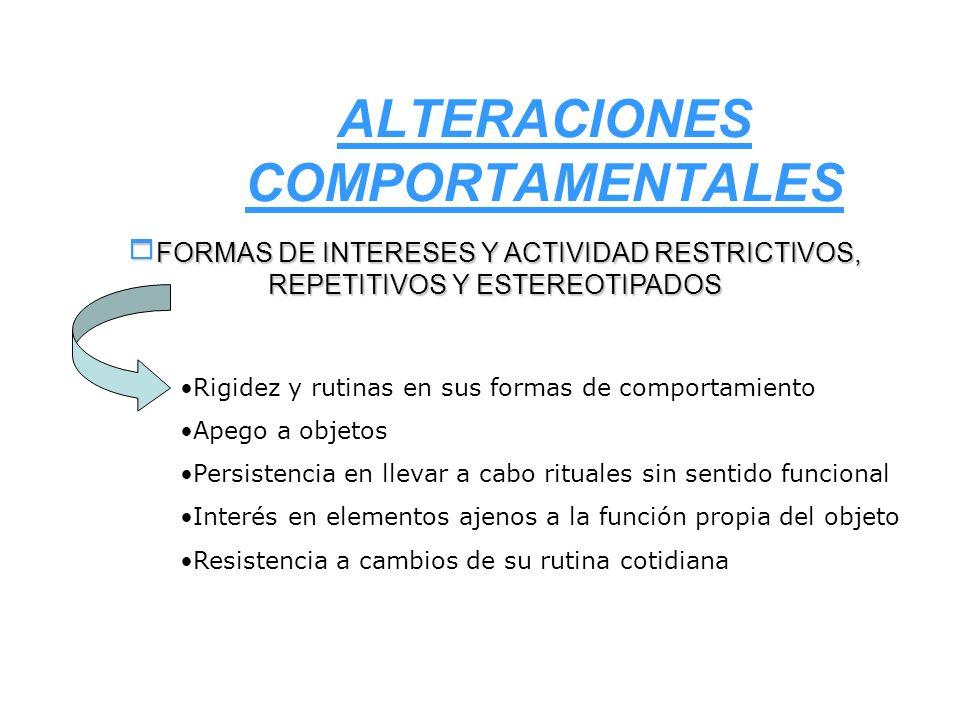 ALTERACIONES COMPORTAMENTALES