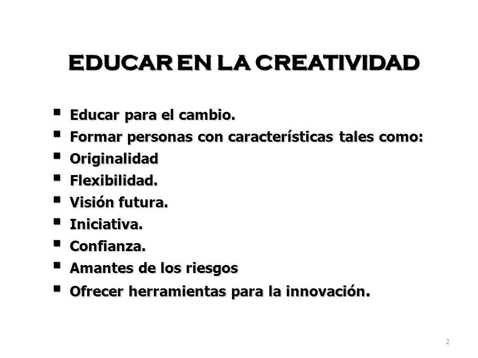 EDUCAR EN LA CREATIVIDAD