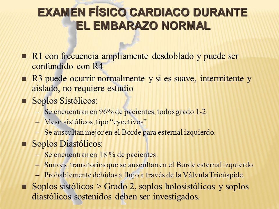 EXAMEN FÍSICO CARDIACO DURANTE EL EMBARAZO NORMAL