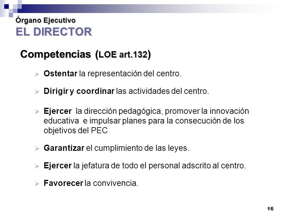 Órgano Ejecutivo EL DIRECTOR