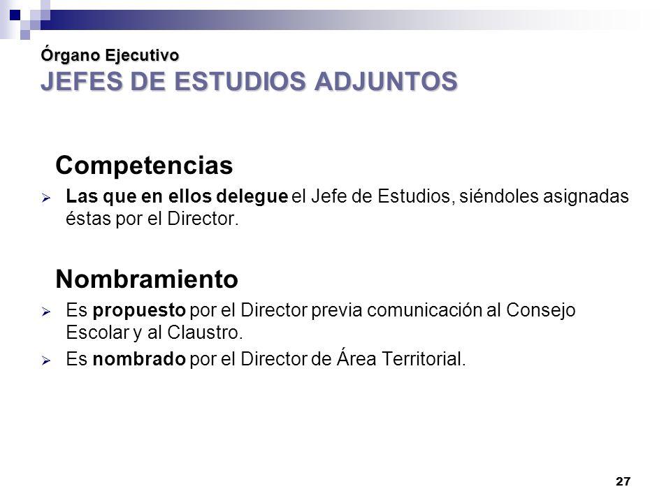 Órgano Ejecutivo JEFES DE ESTUDIOS ADJUNTOS