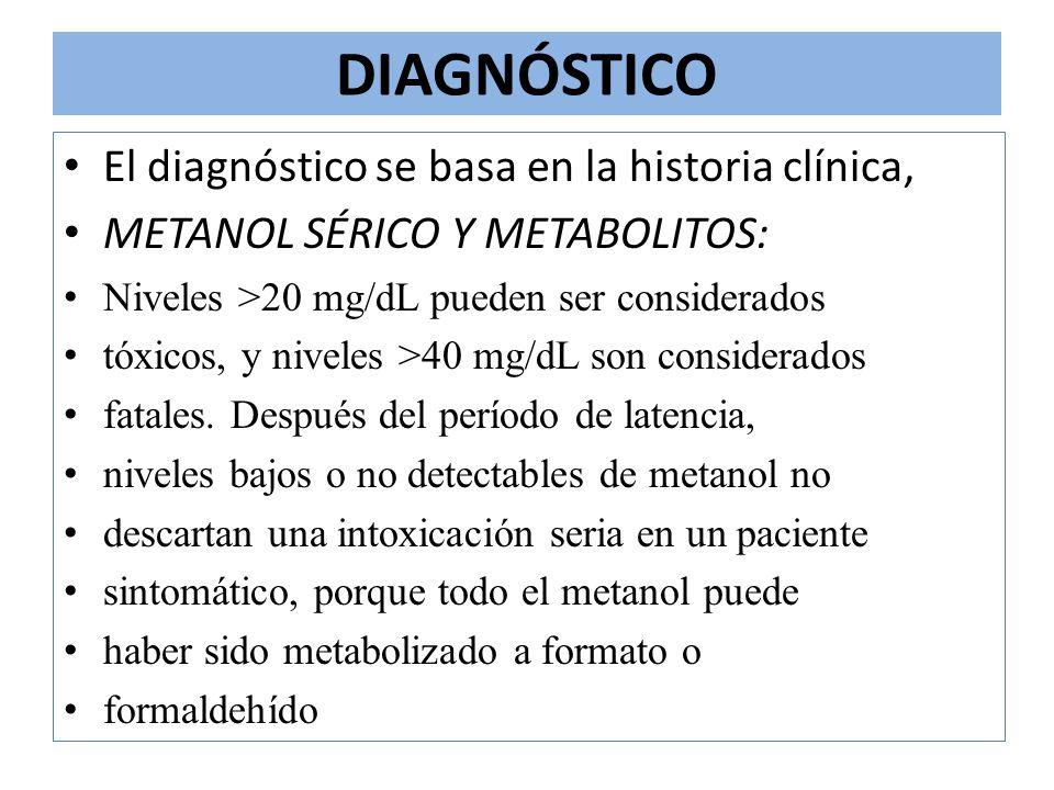 DIAGNÓSTICO El diagnóstico se basa en la historia clínica,