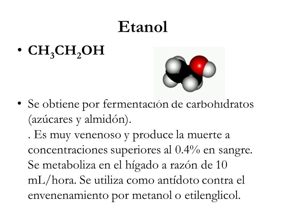 Etanol CH3CH2OH.