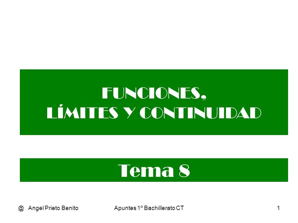 Tema 8 FUNCIONES, LÍMITES Y CONTINUIDAD @ Angel Prieto Benito