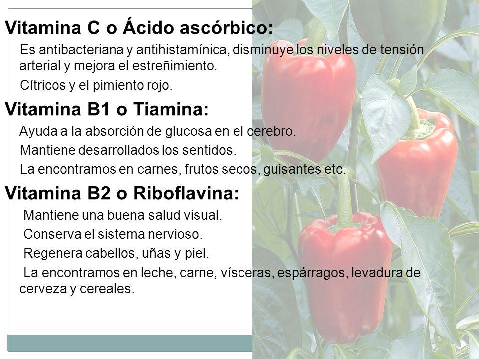 Vitamina C o Ácido ascórbico: