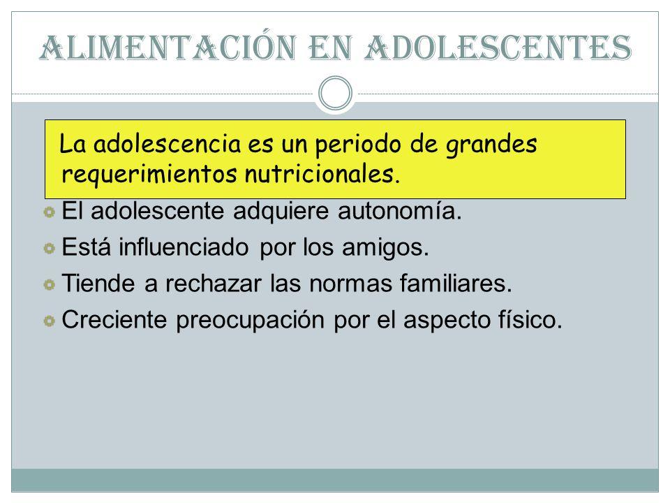 ALIMENTACIÓN EN ADOLESCENTES