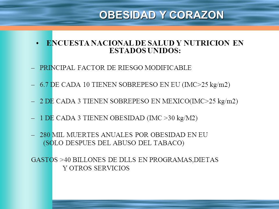 ENCUESTA NACIONAL DE SALUD Y NUTRICION EN ESTADOS UNIDOS: